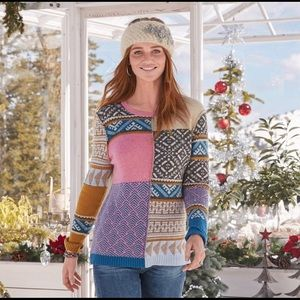 Sundance Field of Fair Patch Wool Sweater